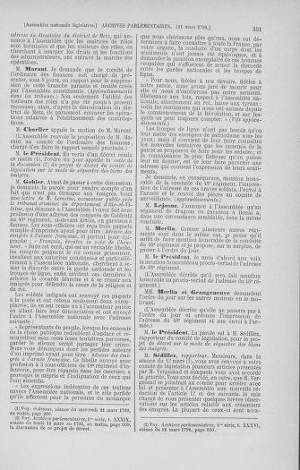 Tome 40 : Du 15 au 30 mars 1792 - page 351