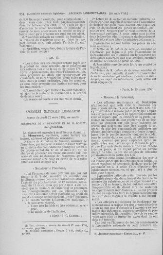 Tome 40 : Du 15 au 30 mars 1792 - page 354