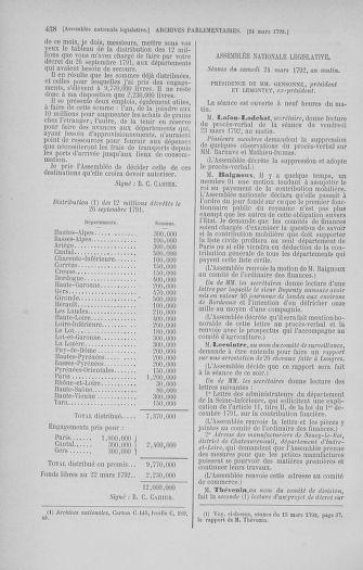 Tome 40 : Du 15 au 30 mars 1792 - page 438