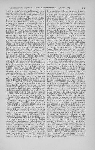 Tome 40 : Du 15 au 30 mars 1792 - page 445