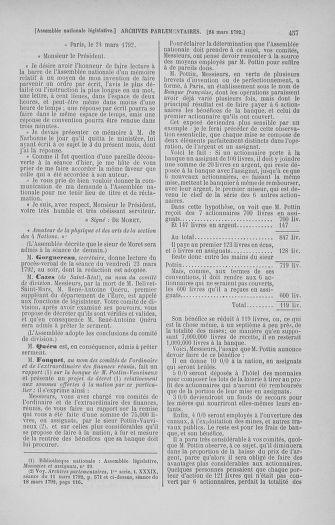 Tome 40 : Du 15 au 30 mars 1792 - page 457