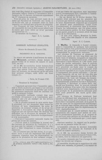 Tome 40 : Du 15 au 30 mars 1792 - page 476