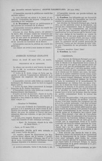 Tome 40 : Du 15 au 30 mars 1792 - page 484