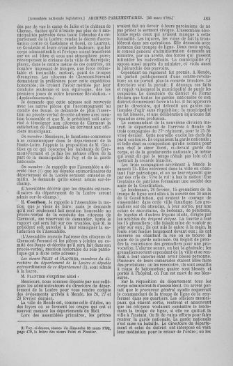 Tome 40 : Du 15 au 30 mars 1792 - page 485