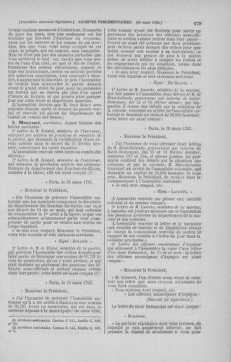 Tome 40 : Du 15 au 30 mars 1792 - page 679
