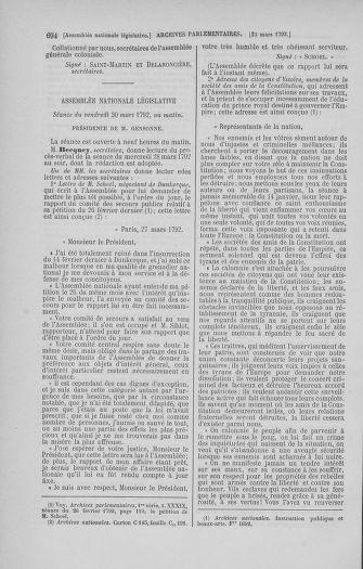 Tome 40 : Du 15 au 30 mars 1792 - page 694