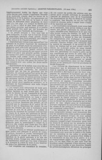 Tome 40 : Du 15 au 30 mars 1792 - page 695