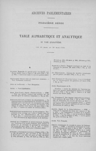 Tome 40 : Du 15 au 30 mars 1792 - page ..