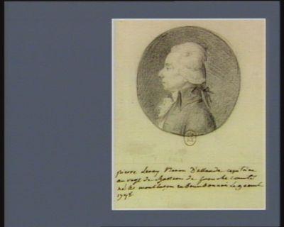 Pierre Leroy baron d'Allarde capitaine au régt de chasseurs de Franche Comté, né à Montluçon en Bourbonnais le 9 âout 1748 : [dessin]