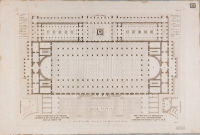 Foro Traiano, Basilica Ulpia, pianta, ricostruzione