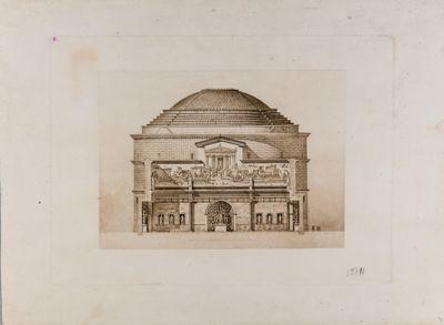 Pantheon, terme di Agrippa, ricostruzione immaginaria