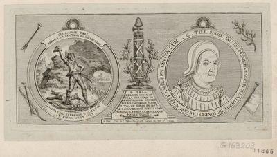 Guillaume Tell, dédié à la section du même nom G. Tell suisse l'un des premiers vengeurs de la liberté... : [estampe]
