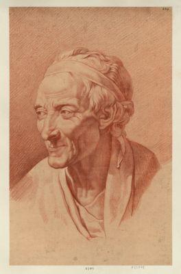 [Buste de Voltaire par Houdon] [dessin]