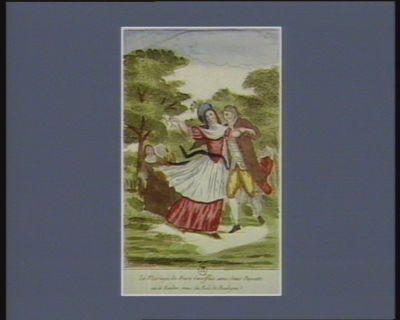 Le  Mariage de frere Girofflée avec soeur Paquette ou le rendez-vous du bois de Boulogne [estampe]