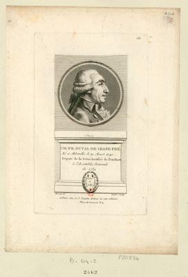 Ch. Fr. Duval de Grand Pré né à Alberville le 19 aoust 1740 député de la sénéchaussée de Ponthieu à l'Assemblée nationale de 1789 : [estampe]