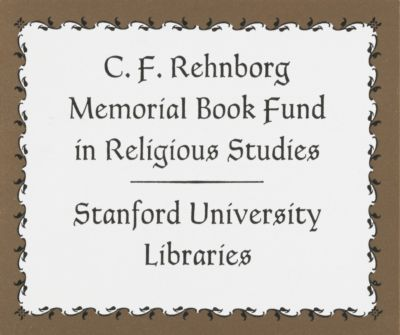 C. F. Rehnborg Memorial Book Fund in Religious Studies