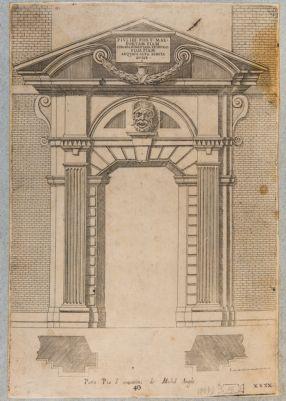 Porta Pia, elementi architettonici verso l'interno