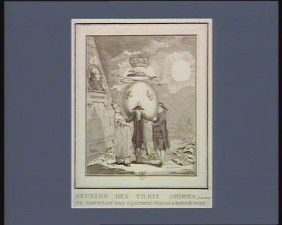 Reunion des Trois Ordres, le 4 aoust 1789 en supportant tous également chacun a moins de peine : [estampe]