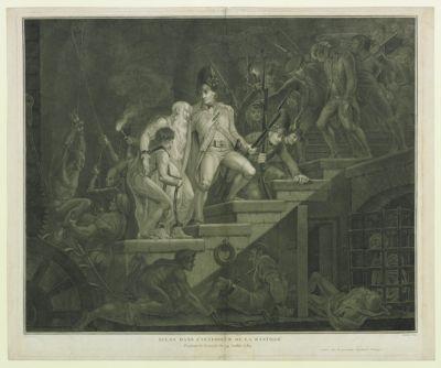 Scène dans l'intérieur de la Bastille pendant la journée du 14 juillet 1789 : [estampe]