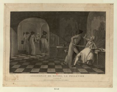 Assassinat <em>de</em> Michel <em>Le</em> <em>Pelletier</em> <em>le</em> <em>20</em> janvier <em>1793</em> [estampe]