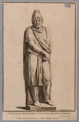Foro Traiano, statua di prigioniero proveniente da questo Foro