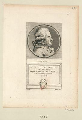 C.les F.cois c.te de Lannoy député du baill.e de Lille en Flandre à l'Assemblée nationale de 1789 : [estampe]