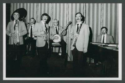 Turk Murphy Jazz Band after Turk had passed away, Jim Maihack, Bill Carroll, Bob Schulz, Bill Armstrong, Ron Deeter and Ray Skjelbred
