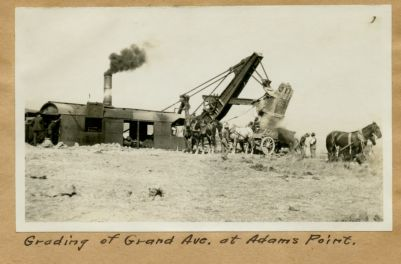 Grading of Grand Ave. at Adams Point