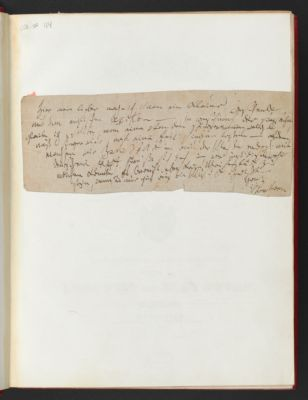 Autograph note to Josef August Röckel from Ludwig van Beethoven, undated