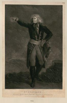 Buonaparte général en chef de l'armée d'Italie, né <em>à</em> Ajaccio en Corce le 15 août 1769 : [estampe]