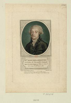 P.re Edouard, Lemontey président de l'Assemblée nationale député du département de Rhône et Loire en 1791, né à Lyon le 14 janvier 1762 : [estampe]