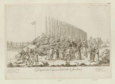 Départ des Capucins de la ville de Strasbourg [estampe]