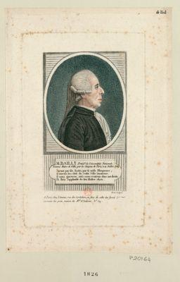 M. Bailly présid.t de l'Assemblée nationale nommé maire de ville, par les citoyens de Paris, le 14 juillet 1789... : [estampe]