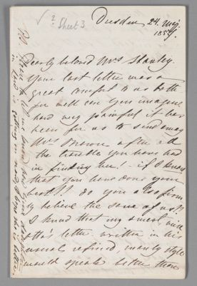 Jenny Lind letter to Catherine Stanley, 1857 May 24