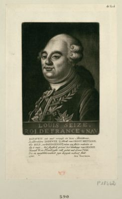 Louis seize, roi de <em>France</em> & Nav Bataven ! Zie met vreugd... : [estampe]