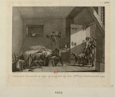 Condorcet, stervende in zijne gevangenis [estampe]