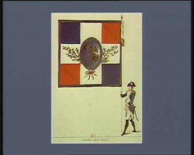 [Collections de drapeaux de la Garde nationale parisienne] [estampe]
