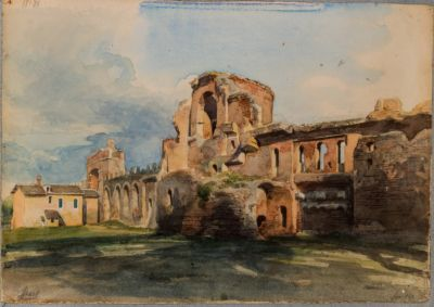 Mura Lateranensi da porta S. Giovanni a porta Asinaria viste dall'interno