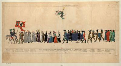 Grand convoi funebre de leurs majestés les jacobins en leur vivant, nos seigneurs et maitres décédés en leurs palais de la rue St Honoré [estampe]