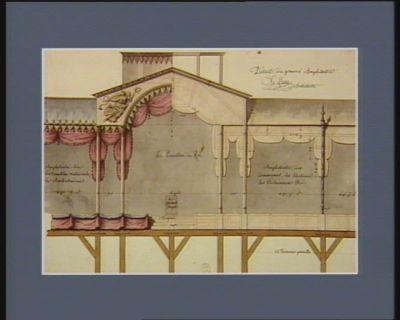 Détail du premier amphithéâtre [dessin]