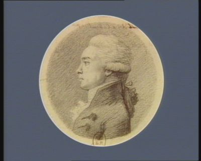 Etienne Francois Sallé de Chou avocat du ro((<em>y</em>] et professeur de droit françois à Bourges né en la même ville le 13 mars 1754, député de Berry à l'Assemblée nationale en 1789 : [dessin]