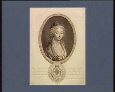 [[Oui mon oncle, c'est celle dont ils ont laissé périr le pere, la mere, la tante, qui vous demande à genoux leur grace et la paix] lettre de Madame Thereze au Roi, à sa sortie de France : [estampe]