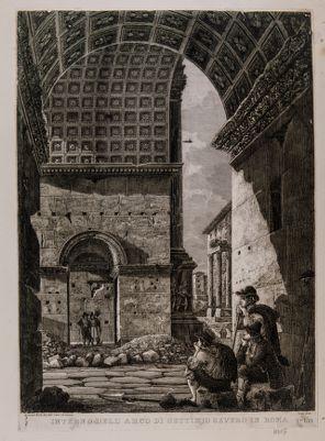 Arco di Settimio Severo, interno