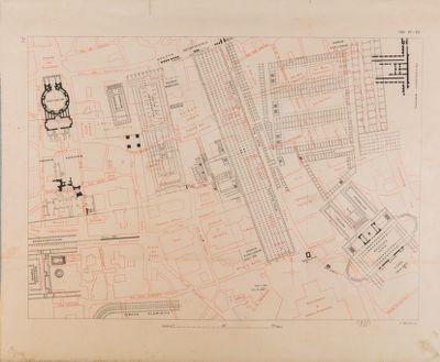 Pianta parziale di Roma dal Foro Traiano al Pantheon, regio IX