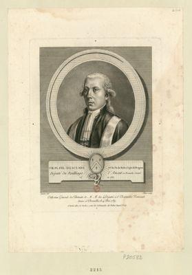 Ch. Pi. Fel. d'Esclans, ch.er de l'or. de Malte, capit. de dragons député du baillage d'Amont en Franche-Comté, né en 1763 : [estampe]