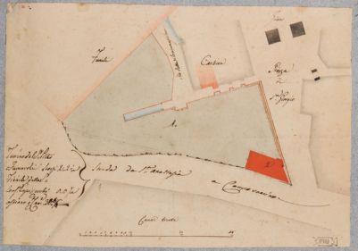 Velabro, planimetria della zona fra piazza San Giorgio e via Santa Anastasia