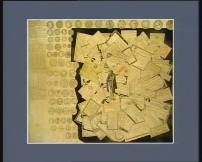 Tableau des papiers <em>et</em> monnayes avec l'échelle de proportion de leur valeur pendant leurs cours adopté par le conseil des Anciens le 5 messidor an V : [estampe]