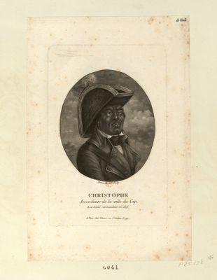 Christophe incendiaire de la ville du Cap dont il était commandant en chef : [estampe]