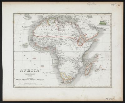 Map Of Africa 1850.Map Of Africa To Illustrate Olney S School Geography In