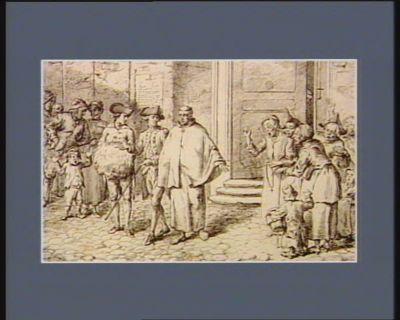 Le 7  X.bre 1790 un recollet du couvent de Strasbourg, est le premier parmi les religieux du Bas Rhin qui ait joui du bienfait de la nouvelle Constitution, en rentrant dans la société... : [estampe]
